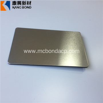 Hot-sale Silver Brushed Aluminum Plastic Composite Panel